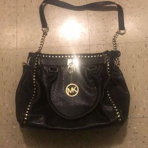 Black and gold Michael kors bag